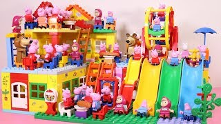 Peppa Pig House Building With Water Slide - Lego Toys For Kids #4