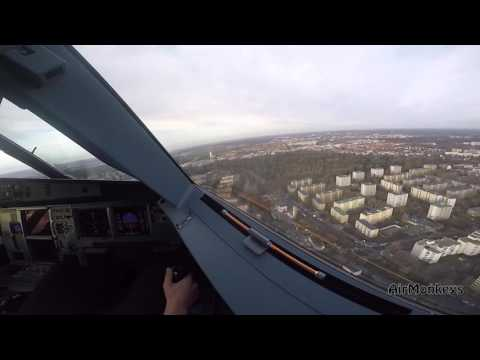 Sidestick-worker on the job - Airbus A320 landing - GoPro HD