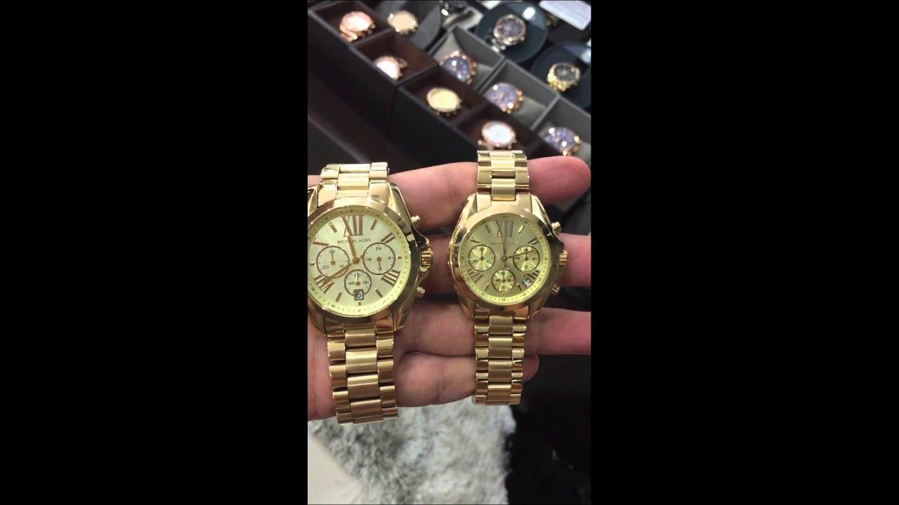d65b3110922c MICHAEL KORS Bradshaw Chronograph Champagne Dial Gold-tone Ladies Watch  MK5798