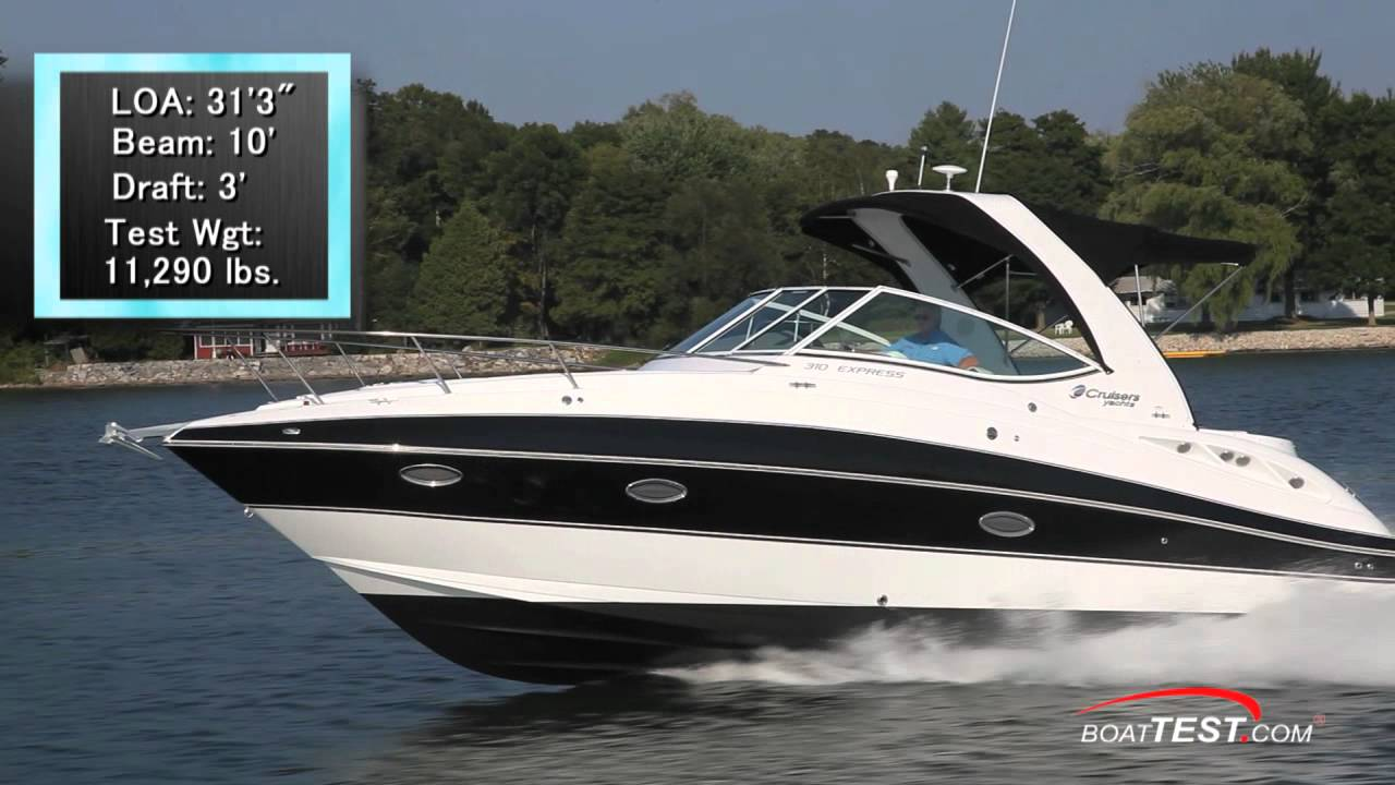 Cruisers Yachts 310 Express Test 2012 By Boattest Com
