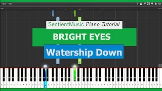 "Watership Down  - ""Bright Eyes"" - Piano Tutorial HD"