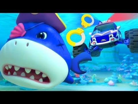 El Pirata Tibur贸n Y Los Autos de Monstruo | Canciones Infantiles | BabyBus Espa帽ol