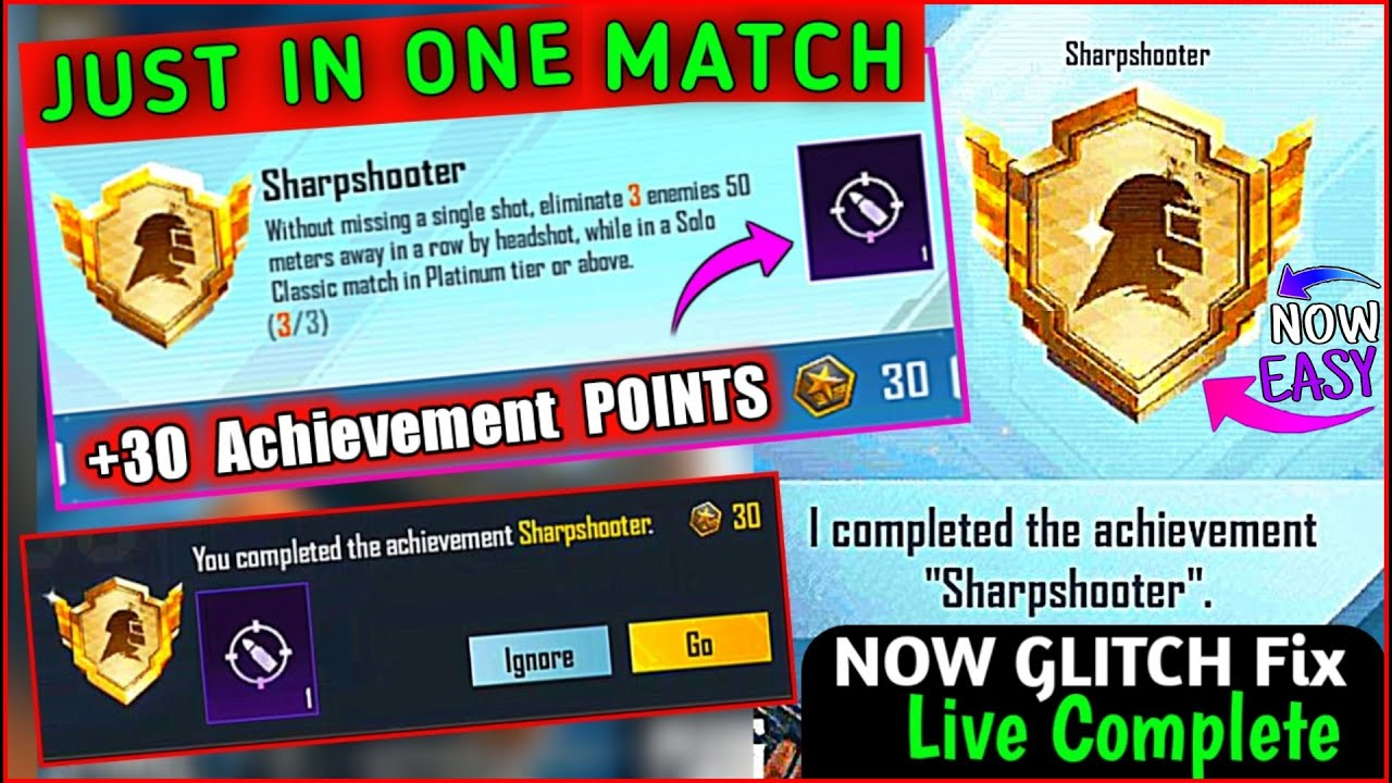 Download Easyway To Complete (Sharpshooter) Achievement in Season19 | How To Get Deadeye Title in Pubg Mobile
