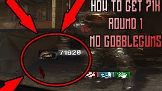 HOW TO GET 71K POINTS ON ROUND 1 WITHOUT GOBBLEGUMS ON MOON (Call of Duty BO3 Zombies Chronicles)