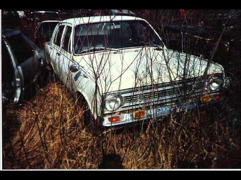 Wrecked Vintage cars, graveyard, barn cars, Sweden!