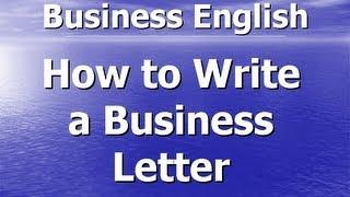 Деловое письмо на английском языке - Business letter in English