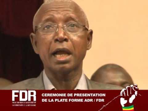 Intervention de Mr Iba N'Diaye lors de la signature de la plate forme ADR/FDR