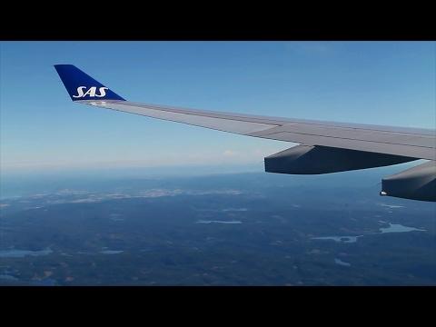 SAS Scandinavian Airlines A330-300 Newark-Oslo Safety, Takeoff, Inflight, Landing SK908