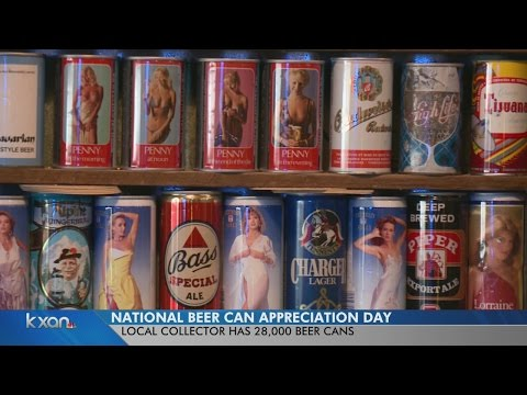 Beer can collector cashes in for 28,000 beer cans.