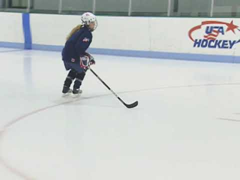 USA Hockey Skills and Drills - Forward Crossover: Outside Foot