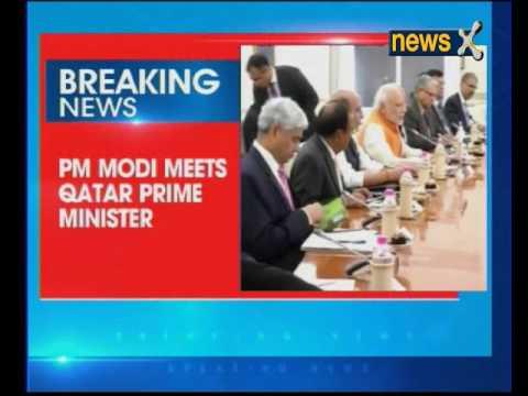PM Narendra Modi meets Qatar Prime Minister