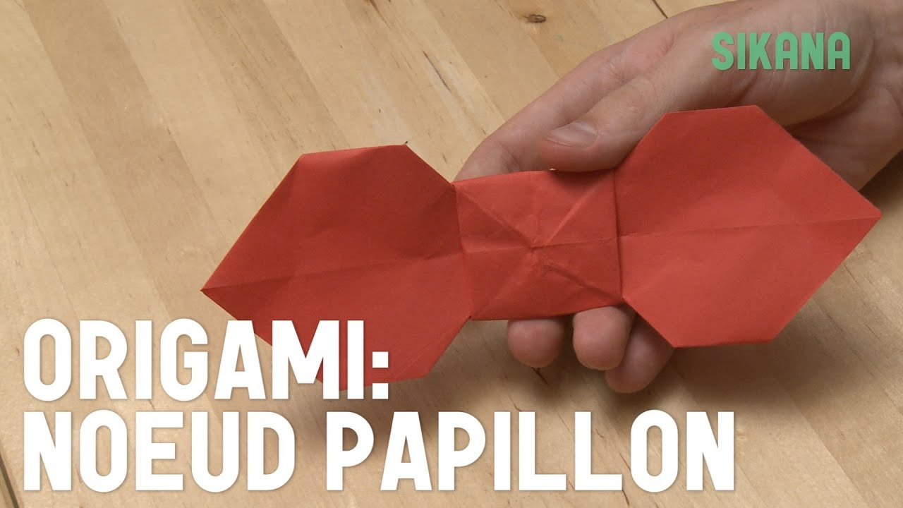 Origami noe ud papillon origami youtube for Pliage serviette noeud papillon