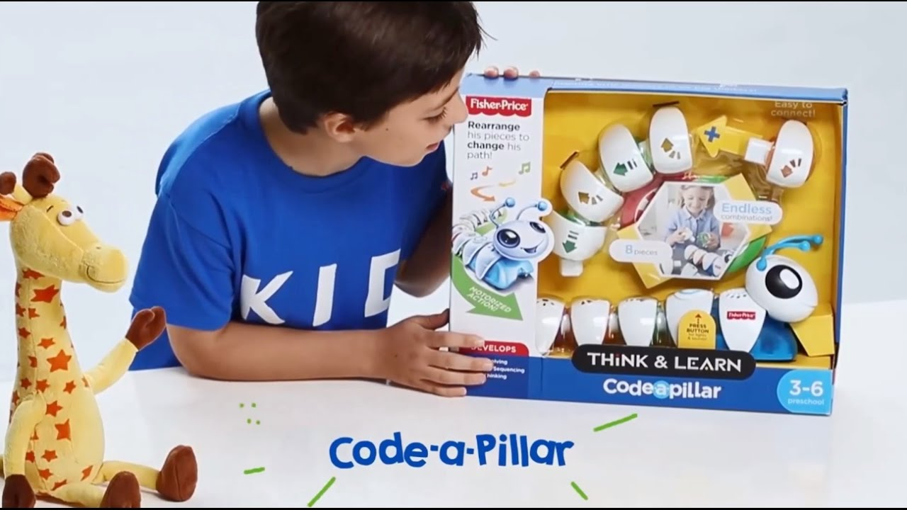Kids Unboxing Toys | Fisher-Price Think and Learn Code-a-Pillar ...