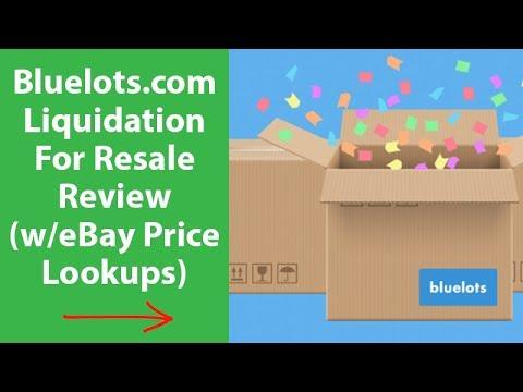 Bluelots.com Liquidation Full Review eBay Price Lookup