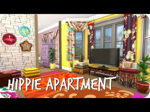 Sims 4 Speed Build | Hippie Roommate Apartment