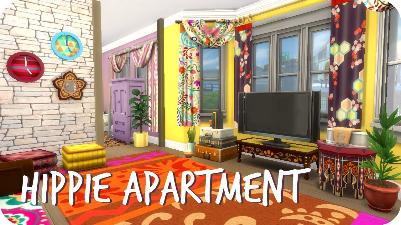 Sims 4 Sd Build Hippie Roommate Apartment