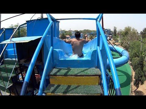 Blue Tube Water Slide at Fun N Food Village