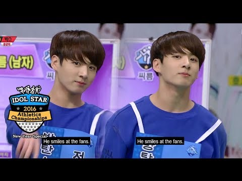 BTS Jungkook is a real macho man! [2016 Idol Star Athletics Championships - New Year Special]