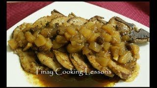 Pork Chops With Apple And Raisin Sauce