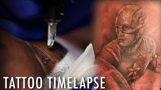 Tattoo Time Lapse of  Captain America of The Avengers - Ryan Mullins