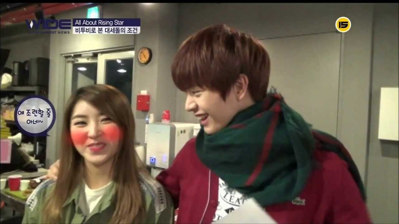 Sungjae BTOB & Sohyun 4minute Trouble maker cut @ UCC 130202