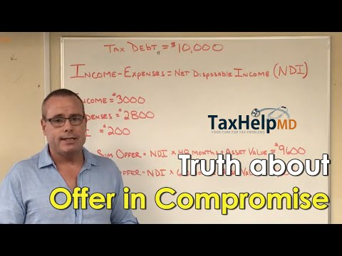 The Tax Doctor: Truth about IRS program Offer in compromise - Tax Help MD