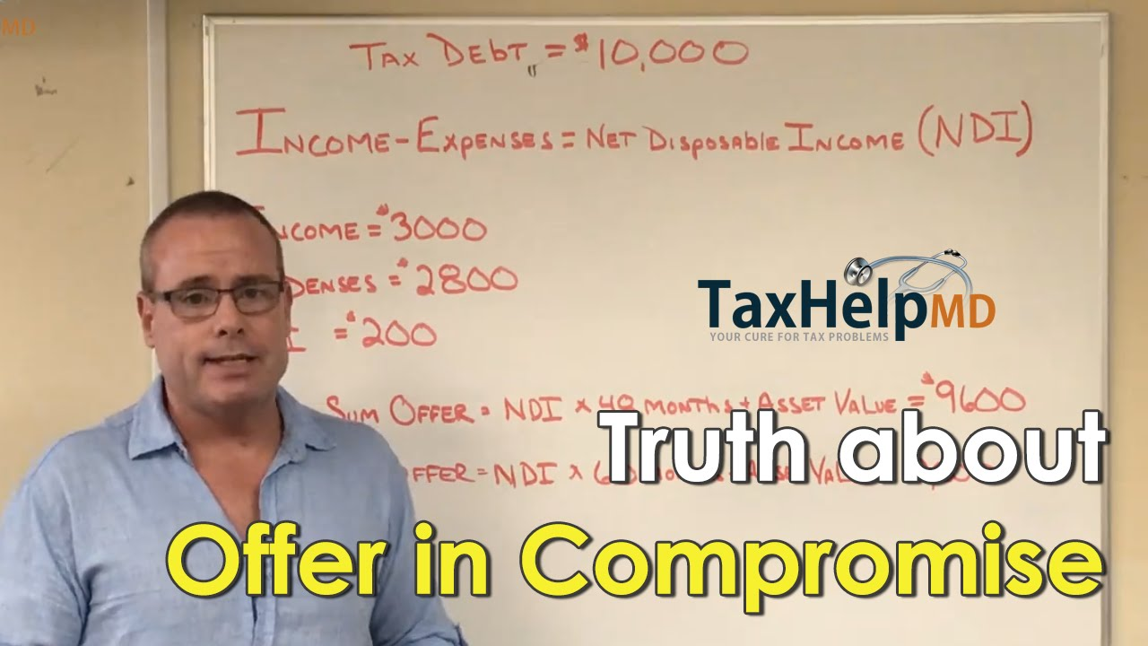 The tax doctor truth about irs program offer in compromise tax the tax doctor truth about irs program offer in compromise tax help md youtube falaconquin