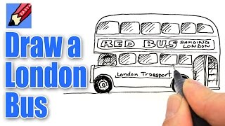How to Draw a London Bus Real Easy