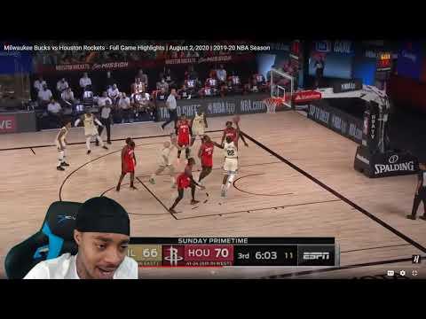 FlightReacts Milwaukee Bucks vs Houston Rockets - Full Game Highlights | August 2, 2020!