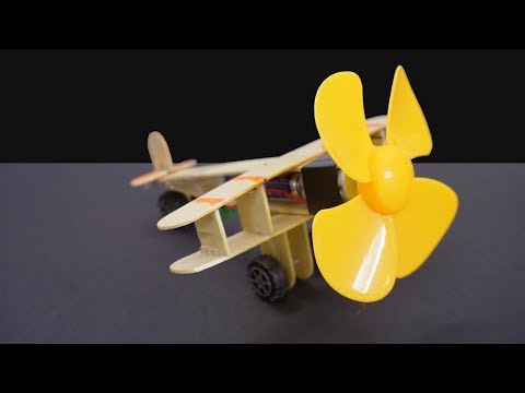 How to make Aeroplane with DC motor - DIY Projects