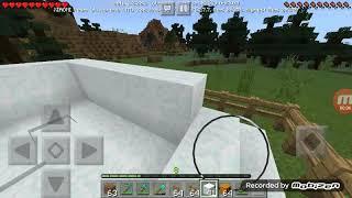 Membuat kandang salju part6 Minecraft survival di map #12