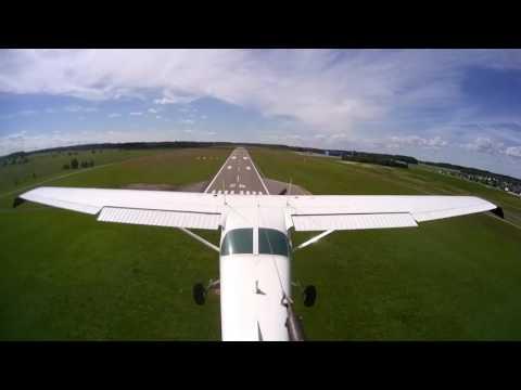 Overflying Lennundusmuuseum airfield Tartu [EELM] and touch and go Tartu airport [EETU] RWY 26