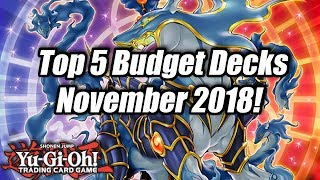 Yu-Gi-Oh! Top 5 Competitive Budget Decks for the November 2018 Format!