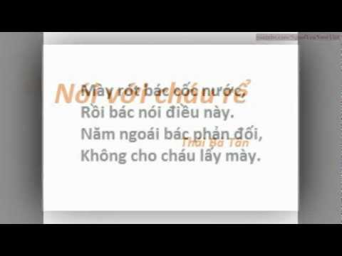 Nói Với Cháu Rể (thơ Thái Bá Tân)