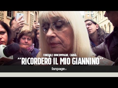 Funerali Boncompagni, Carrà in lacrime: 'Voglio ricordare il mio Giannino, gli sono stata vicina fin