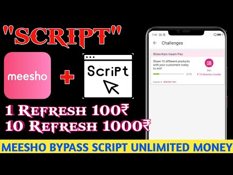 Meesho App Money Adder Script |10+10+10+10 Unlimited Time Free Products ! | Earn Unlimited Money😱