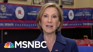 Carly Fiorina: Debates Not Be All End All | MSNBC
