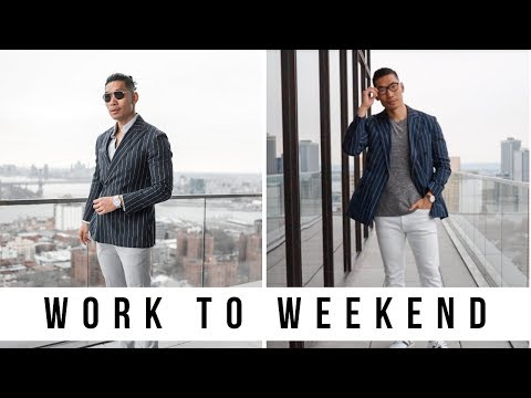 HOW TO: DOUBLE BREASTED BLAZER Work To Weekend | 2 Minute Style Tips - Levitate Style