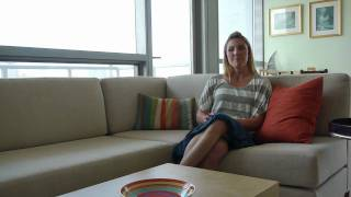 Abigail, a new buyer at Silver Tower in River North