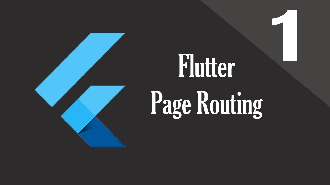 1 Flutter Page Routing and Navigation | Flutter Transition Playlist by  Nitish Kumar Singh