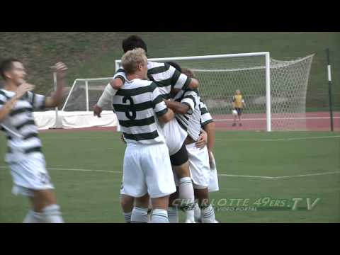 Charlotte 49ers Mens Soccer TJ Beaulieu Scores in Exhibition vs. UNC