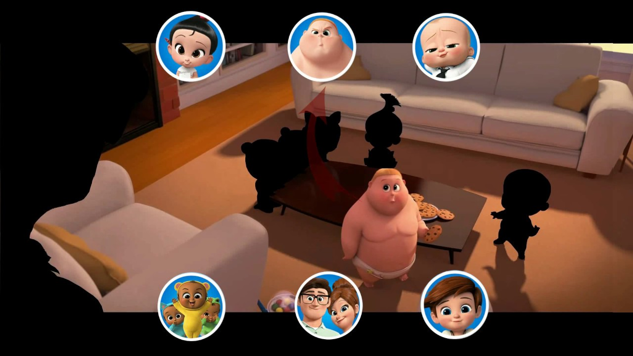 Find Baby Boss Characters On The Screen From Baby Boss Movie