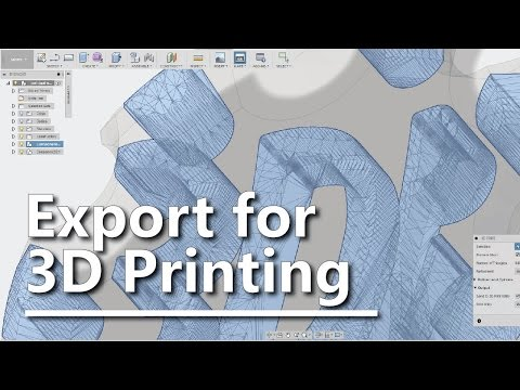 Exporting STL files in Fusion 360 - Single, multiple bodies and dual extrusion!