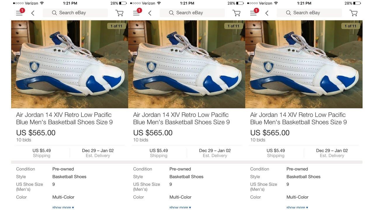 83bd7ec100d $4.99 FOR JORDAN PACIFIC BLUE 14 | Goodwill Finds + Reglue + On-Feet ...