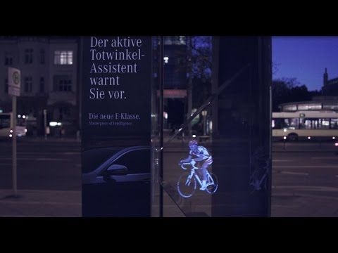 Mercedes-Benz creates outdoor hologram campaign | WallDecaux