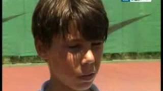 little 12 year old Rafael Nadal