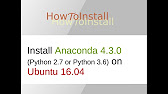 Install Anaconda by 