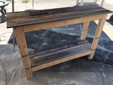 How To Make A Sofa Table Top Klippan Cover Diy 20 Console Project Fast And Easy Great For All Skill Levels
