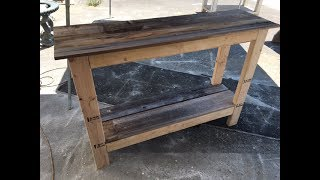 Diy $20 Console Table Project. Fast And Easy. Great Project For All Skill Levels.