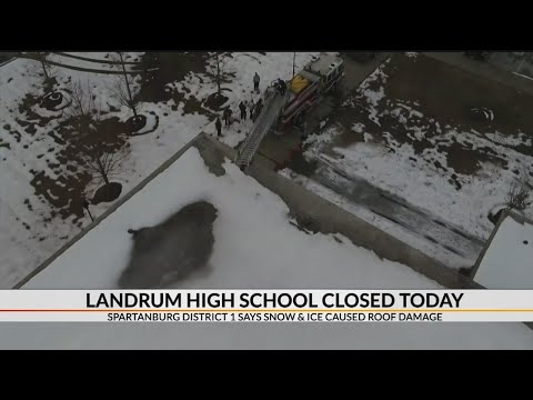 Landrum High School closed for roof damage